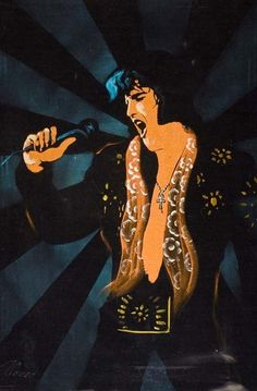 """Velvet paintings of Elvis, called """"Velvis,"""" first began to appear at the Mariscal Gallery in Tijuana in the late 1950s. After Elvis' death in 1977 he became a popular subject for velvet painters. I want a Velvet Elvis."""