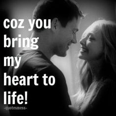 coz u bring my heart to life :')  follow for more ^_^ #love #life #lovely #lovelyquotes #loveher #lovehim #loveus #us #we #quotesmess #lovequotes #lovelyquotes  #romance #romantic #heart #life #lovemess
