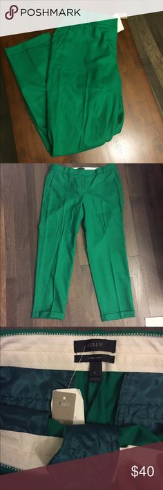 🆕 J.Crew Green Cafe Capri 100% Wool Pants NWT 8 Brand new with tags! Thank you for looking! QUALITY clothing at DEEP discounted prices! J. Crew Pants Capris