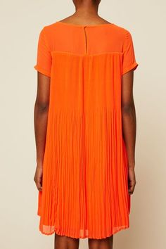 Robe tissu plissé Audrianna orange 4