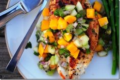 4 ways to dress up dinner with mango salsa | Easy ideas to make your summer meals sing! Buttoned Up