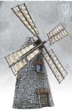 Windmill kit for smaller scales