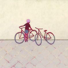 Bike Ride by Jennifer Davis #art #print #Etsy