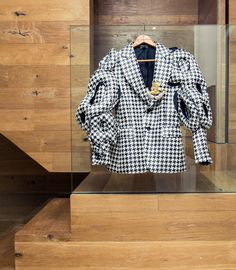 Between her Comme des Garçons and Prada archive, incredible decor and art collection; Michelle Elie is one for the books (so we put her in ours). White Plaid, Black And White, Haute Couture Dresses, Closet Designs, Comme Des Garcons, Plaid Blazer, The Incredibles, Cologne, Closets