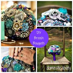 Domesticability: Wedding--DIY Brooch Bouquets