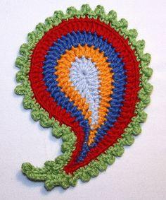 Paisley x4 crochet pattern di CAROcreated su Etsy