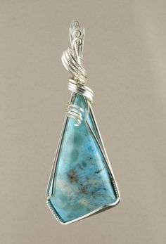 Larimar Pendant (561) by WalelabyLynn on Etsy