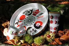 Harvest range by Isak  Serving Plate  Lidded cups  Fika cups
