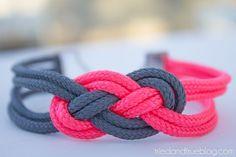Super Easy Sailor Knot Bracelet for Valentine's Day - Gift