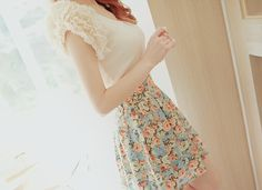 // pastels + ruffles + floral = romantic