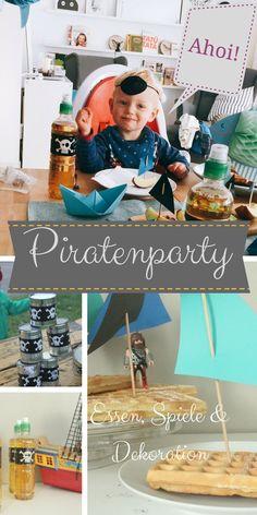 Schaurig, schöne Piratenparty. Mottoparty, Ideen für Einladung, Essen und Spiele. Kindergeburtstag. Besonders für Jungs.