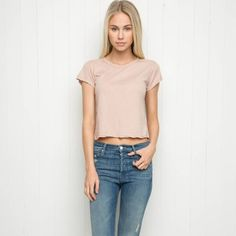 NWT Brandy Melville Light Pink Top New with tags💕 Brandy Melville Tops