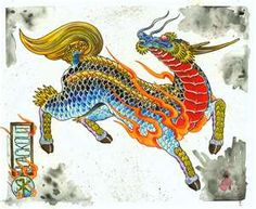 The Qilin or the Chinese Unicorn as westerners call it is another mythological creature that has a similar counterpart in Japanese culture. The Qilin (or Kirin in Japanese) is like the Asian version of a dragon, as it is a combination of features from more common animals.