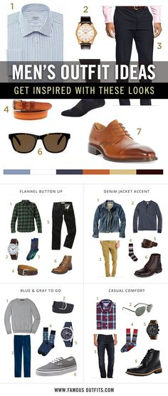 Here are a few easy looks to help you get inspired. 31 Simple Style Cheat Sheets For Guys Who Don't Know WTF They're Doing Mode Masculine, Mens Fashion, Fashion Outfits, Fashion Tips, Men's Outfits, Trendy Fashion, Style Fashion, Fashion Ideas, Fashion Inspiration
