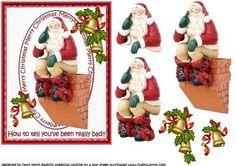 Santa sat on the chimney oops on Craftsuprint - Add To Basket!