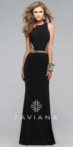 35c9aa9e859 Faviana Multi Strap Cut Out Prom Dress Cut Out Prom Dresses