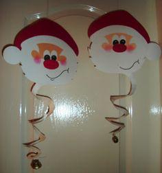 Santa Claus Door Hanger Craft with bell - OviVarázs: Téli dekoráció: Mikulás