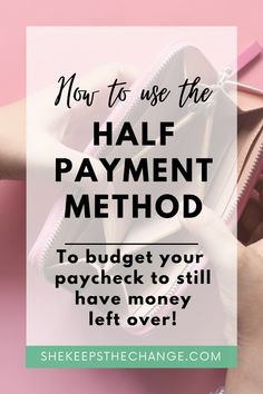 The Half Payment Budgeting Method is absolutely one of my favorites. You can still use it along with your cash envelope system or zero budgeting method. The half payment works best because it helps make your bill payments more manageable. Balancing out your payments by dividing them in half and going by the frequency of your paycheck. Read more to see the other steps. Best Money Saving Tips, Ways To Save Money, Money Tips, Saving Money, How To Make Money, Budgeting Finances, Budgeting Tips, Cash Envelope System, Managing Money