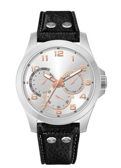 Add a dash of glamour to your watch collection with this Silver analogue watch by Tropez.