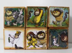 """""""And Max, the king of all wild things, was lonely and wanted to be where someone loved him best of all.""""  DETAILS • Customised wooden blocks. • Precision cut and made from high quality Pine wood. • Features Where the Wild Things Are, 1963 childrens picture book by American writer and illustrator Maurice Sendak • Découpage with water-resit papers and topped with child safe varnish.  PRICE • The price as shown [ For 2 blocks, 3 blocks, 10 blocks etc] • Other accessories are not included in…"""