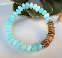 Image result for pinterest turquoise and coconut beaded bracelet