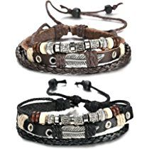 FIBO STEEL Leather Charm Bracelet for Men Braided Wrist Cuff, Adjustable inches *** Check out this great image @ Leather Charm Bracelets, Woven Bracelets, Bracelets For Men, Jewelry Bracelets, Vintage Leather, Vintage Men, Leather Men, Key Jewelry, Jewelry Ideas