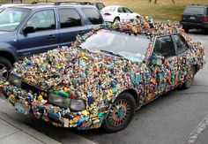 McD's toy art car: so this is what I can do with all those happy meal toys!
