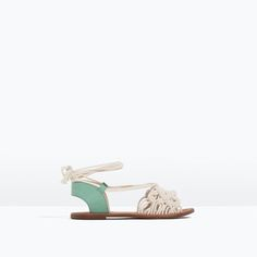 Image 1 of FABRIC KNOT SANDALS from Zara