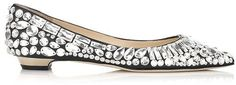 Jimmy Choo Tibet Black Nappa and Crystal Pointy Toe Pumps on shopstyle.com