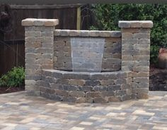 Paver Waterfall Wall For Patio