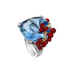 White gold Opal Diamond Ring - Piaget Luxury Jewellery G34LR500