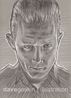 Sketch card of the T-1000 from Terminator 2