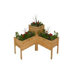 Gro Products Unfinished Combination Cedar Elevated Garden Bed