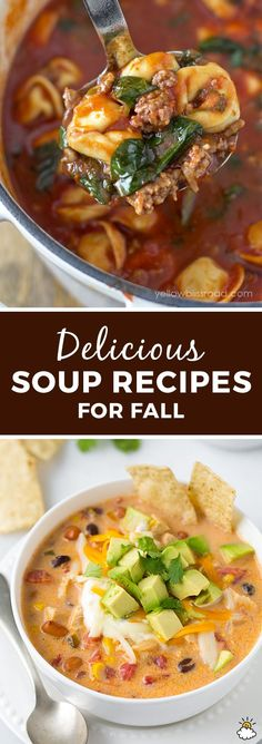 The 15 Most Delicious Fall Soups Food Recipes For Dinner, Food Recipes Homemade Fall Soup Recipes, Chili Recipes, Fall Dinner Recipes, Fall Meals, Dinner Ideas, Healthy Recipes, Healthy Soup, Dinner Healthy, Healthy Fall Soups