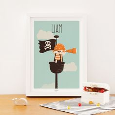 Affiche Les Pirates La vigie (personnalisable) : Kanzilue