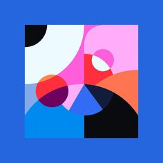 """""""Kleurstaal"""" is a personal project by Belgian designer Bram Vanhaeren (previously featured here) exploring vibrant color palettes and geometric shapes. """"Kleurstaal is a Dutch translation… Grid Design, Shape Design, Design Elements, Design Art, Abstract Shapes, Geometric Shapes, Abstract Art, Graphic Design Illustration, Graphic Art"""