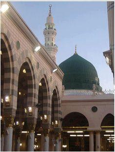 Bahar-e-Durood O Salam: Gumbad-e-Khazra / Masjid-e-Nabawi Al Masjid An Nabawi, Masjid Al Haram, Islamic Images, Islamic Pictures, Islamic Videos, Mecca Sharif, Ramadan, Flying Bird Silhouette, Medina Mosque
