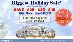 Biggest Holiday Sale! SAVE - $25 - $35 - $45 Super CurCumin - Vitamin B12 - D3...Super Resveratrol Deals..  Buy More - Save More!