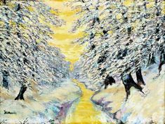 Christmas and winter time by famous Slovak artist - Anton Jasusch - Winter (before 1914)  kultura.sme.sk