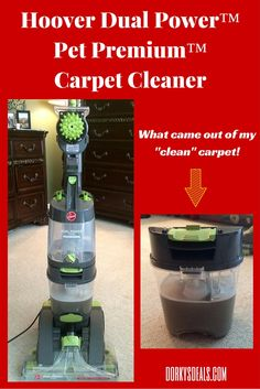 The Hoover Dual Power™ Pet Premium™ Carpet Cleaner means business. This is a heavy duty carpet cleaner, with serious scrubbing potential. Its DualTECH™ Cleaning System features patented SpinScrub Brushes and a rotating brushroll which work to clean years of dirt and stains out of your carpet.