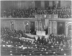 """On April 2, 1917, President Woodrow Wilson asked Congress to declare war against Germany, saying, """"The world must be made safe for democracy."""" Four days later, Congress voted overwhelmingly in favor of a war declaration. The U.S. had gradually been drawn into the war by factors including German submarine aggression and the Zimmerman Telegram, sent by the German Foreign Minister to Germany's Mexican ambassador, promising to help Mexico reclaim U.S. land in exchange for support in the war."""