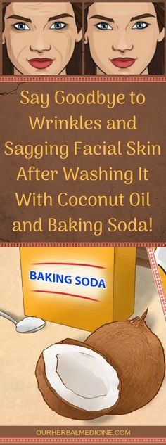 Sagging Skin Remedies Say Goodbye to Wrinkles and Sagging Facial Skin After Washing It With Coconut Oil and Baking Soda! Coconut Oil Facial, Coconut Oil Lotion, Baking With Coconut Oil, Coconut Oil For Acne, Coconut Oil Uses, Diy Beauty Hacks Coconut Oil, Organic Skin Care, Natural Skin Care, Organic Facial