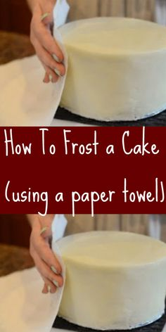 How To Frost a Cake  using a paper towel You can easily frost a cake with a paper towel. Try our Easy Vanilla Buttercream Frosting  Watch the short video.   THE MONKEY ORCHID Paradise?