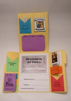 Leonardo da Vinci Lapbook - Click Image to Close