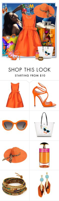 """The colors of summer"" by perla57 ❤ liked on Polyvore featuring Topshop, P.A.R.O.S.H., Jimmy Choo, Dolce&Gabbana, Karl Lagerfeld, Prada, Chan Luu, Gas Bijoux and John Hardy"