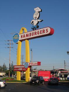 Oldest McDonalds in Downey California. by billdroadrunner1, via Flickr