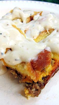 Sausage Gravy Breakfast Bake