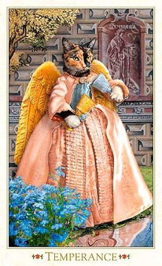 How About Some Tarot Cards With Gorgeous Baroque Bohemian Cats On Them? - World's largest collection of cat memes and other animals Temperance Tarot Card, Tarot Cards Major Arcana, Animal Society, Illustrations, Animal Paintings, Cat People, Pet Portraits, Cat Art, Baroque