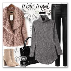 """""""Tricky Trend: Dress and Pants"""" by andrejae ❤ liked on Polyvore featuring J Brand, Gianvito Rossi, women's clothing, women's fashion, women, female, woman, misses, juniors and TrickyTrend"""