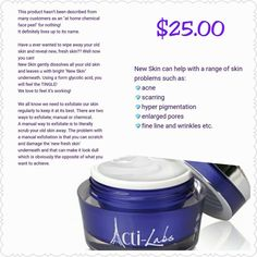 "Find out why our customers are calling this the ""At home CHEMICAL PEEL."" look at the price :) By cutting out the middle man your not paying all that extra."
